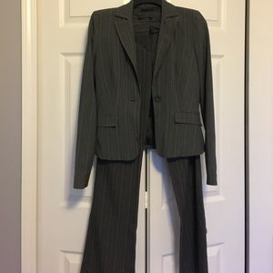 My Michelle Other - 2 piece woman's gray pin strip suit