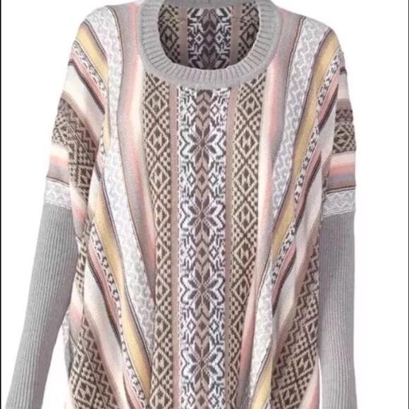 68% off CAbi Sweaters - Cabi 2015 fair Isle Poncho Sz Medium #3121 ...