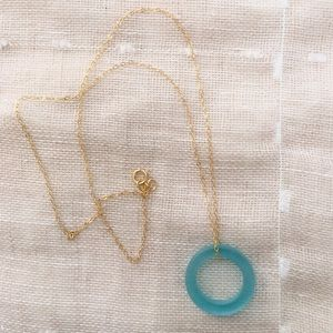 AriGrl Jewelry - 14K Gold filled necklace with Beach glass