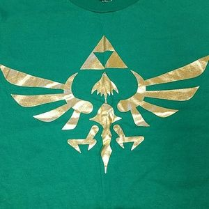 Nintendo Other - Legend of Zelda Triforce Gold Foil 2XL