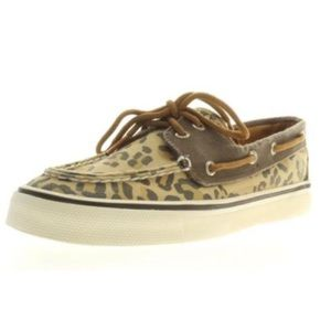 Leopard Cloth/Canvas Sperry Boat Shoes