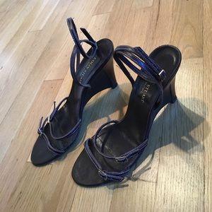 Colin Stuart Shoes - Colin Stuart brown leather strap heels size 7 1/2