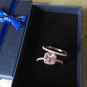 Jewelry - ❤️SALE 925 silver engagement ring wedding band set