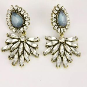 Jewelry - Crystal Drop Statement Earrings