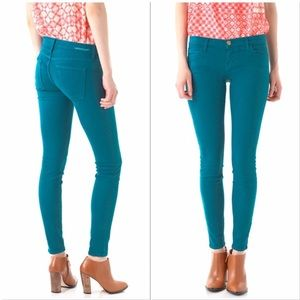 Current Elliott ankle skinny jeans blue canteen 28