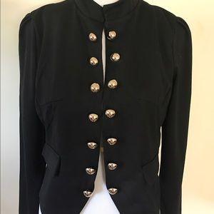 Curvy Couture Jackets & Blazers - Black Bomber Peacoat Jacket Blazer NWT