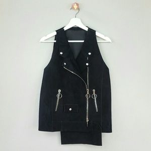 Costume National Jackets & Blazers - COSTUME NATIONAL suede biker vest
