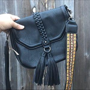 Antik Kraft Handbags - Black Antik Kraft Saddle Bag