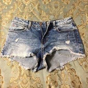 Bullhead Acid Wash Cut off Shorts