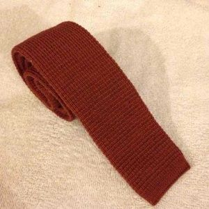Wembley Other - Wembley Solid Rust Knit Tie Wool Tie