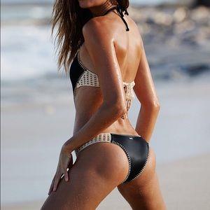 Victoria's Secret Swim - Black Surf Crochet Monokini