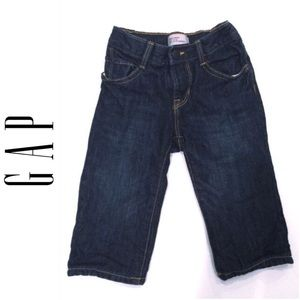 GAP denim jeans, soft jersey lined 6-12 mths
