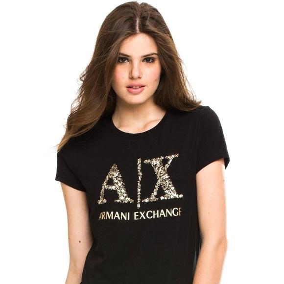 879742619b Armani Exchange Women's Embellished T-shirt Size S