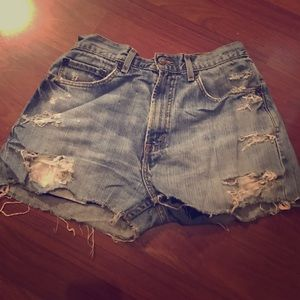 Urban Outfitters Pants - Vintage Levi Shorts with Lace Underneath