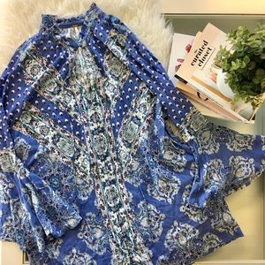 Free People Tops - Free People Magic Mystery Tunic Top in Sky Blue