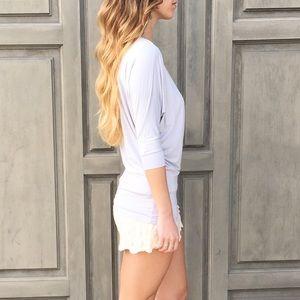 grey dolman sleeve top