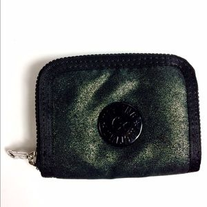 Kipling Handbags - Kipling Black & Metallic Silver Wallet