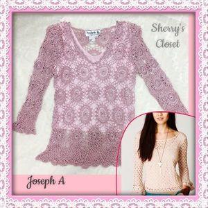 Joseph Allen Tops - Blush pink, JOSEPH A  Bell sleeve knit sweater