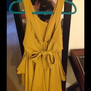 Modcloth Dresses Mustard Yellow Formal Dress Poshmark
