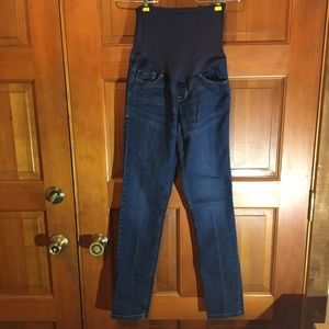 Old Navy Maternity Denim - Old Navy Maternity skinny jeans, dark wash, size 4