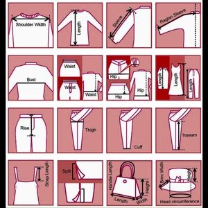 How I take clothing measurements.
