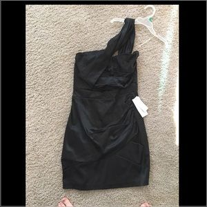 Xtraordinary Dresses & Skirts - Black body con one shoulder mini dress never worn
