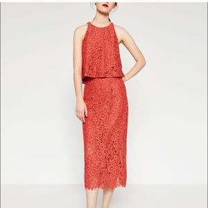 🆕 Zara Guipure Lace Skirt