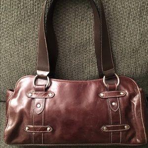 Wilsons Leather Handbags - Wilsons Leather Brown Leather Satchel Handbag
