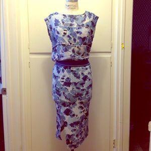Clover Canyon Dresses & Skirts - NWT skirt set blue floral Neoprene S $120