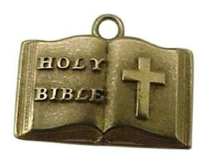 Other - Antique 14k gold religious Holy Bible  pendant