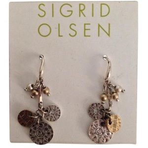 Sigrid Olsen Jewelry - Sterling Silver & Gold Tone Dangle Earrings