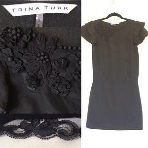 Trina Turk Dresses & Skirts - Stunning TRINA TURK Silk appliqué stretch dress
