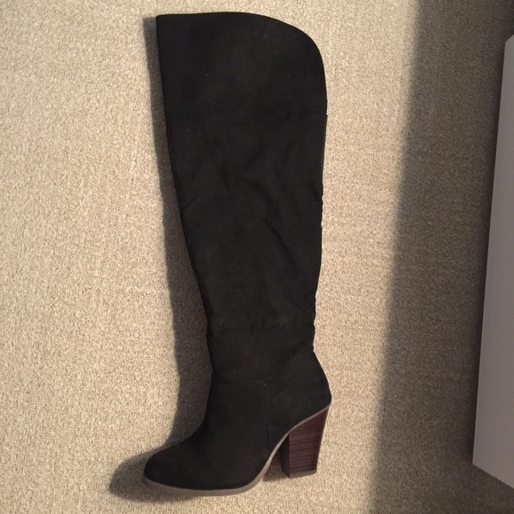 1718aeda581 Lane Bryant Faux Suede Over the Knee Boots  FINAL