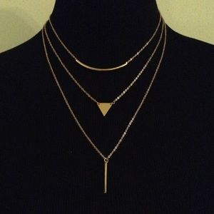 Jewelry - ✨✨✨GOLD THREE-TIER NECKLACE✨✨✨