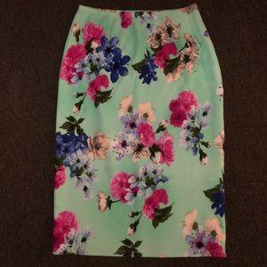 Eleventy Dresses & Skirts - Floral pencil skirt