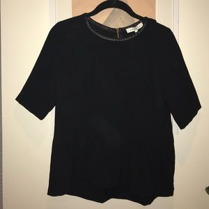 Sandro Tops - Sandro Top with leather trim