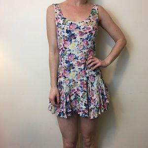 Free People Dresses & Skirts - FREE PEOPLE Summer Floral Ruffle Sleeveless Dress