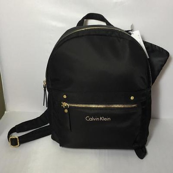 cb91c3d59 Calvin Klein Bags | Stacie Nylon Campus Backpack Black | Poshmark
