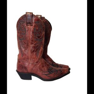 Justin Boots Shoes - 🎀LOWEST🎀Justin red glazed bent rail boots