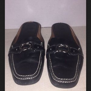 Cole Haan Shoes - Cole Haan Nike Air Black Leather Loafer Sz 8AA