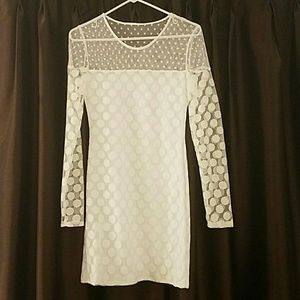 Nasty Gal White Polka Dot Dress