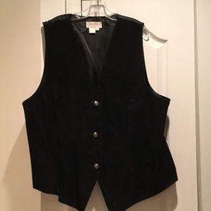 Spiegel Jackets & Blazers - Ladies suede vest black worn once size 22w