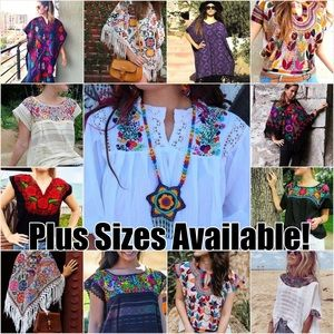 Plus Size Mexican Tops Available!