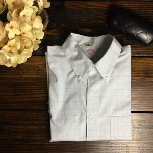 Brooks Brothers traditional fit blue check  16-34