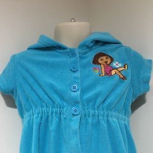 Nickelodeon Other - Dora the Explorer 3T SS Hooded Swim Coverup