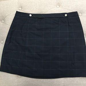 🆕 ✅ Banana Republic Windowpane Front Button Skirt