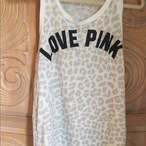 Pink brand tank top