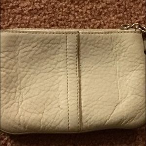 REDUCED TO SELL🔴Coach white leather wristlet