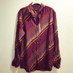 DKNY Other - Men's DKNY merlot button-down dress shirt