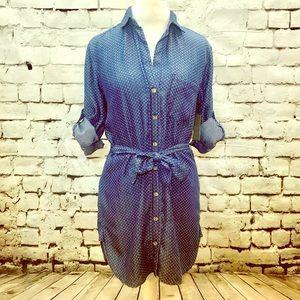 NWT Anthropologie Cloth & Stone Denim Tunic Top